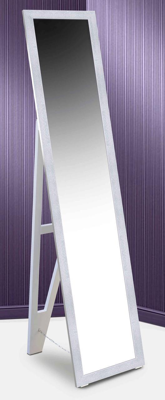 Зеркало напольное в раме Factura с деревянной подставкой White sea bottom 45х169 белый