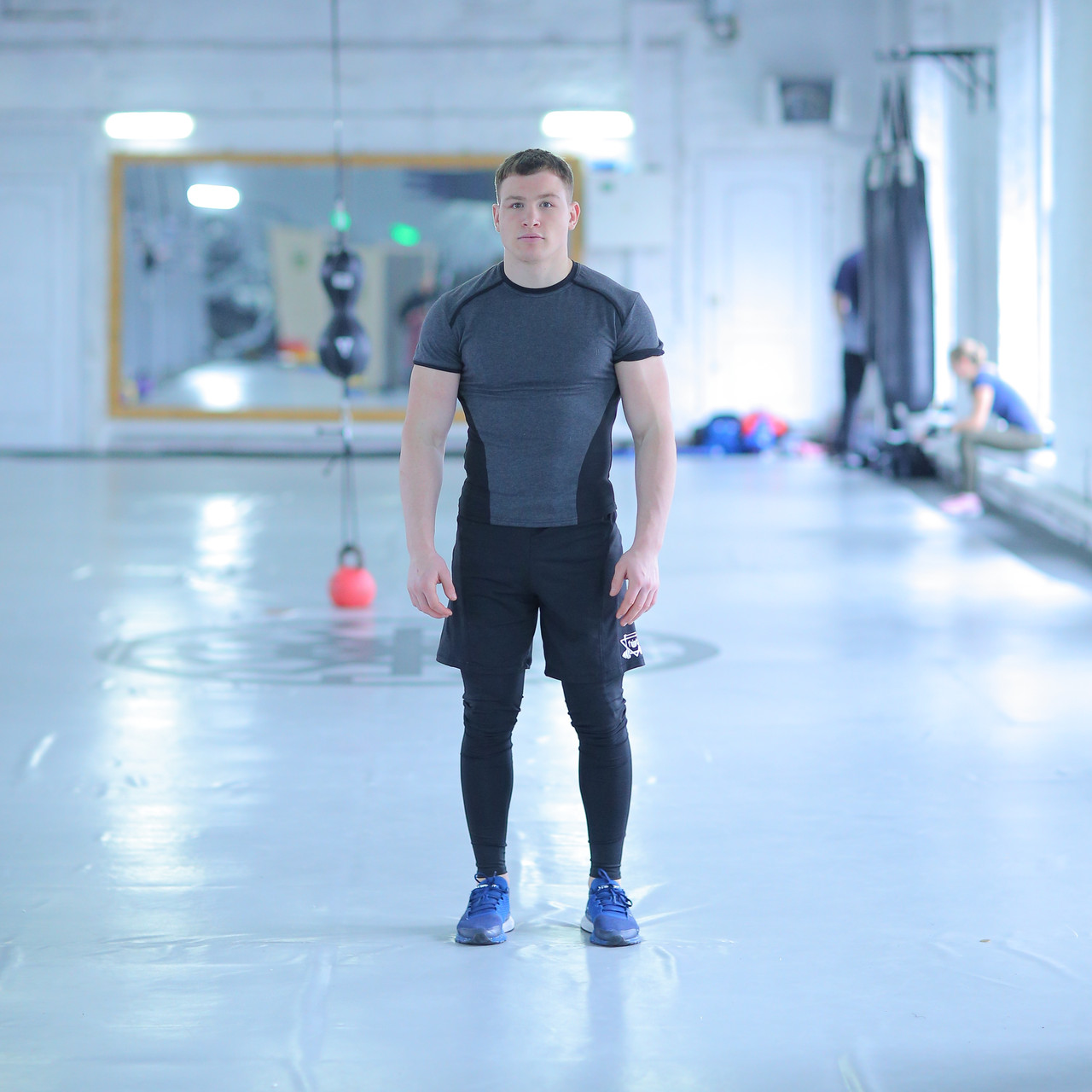 Компрессионная Одежда для спортзала fitU Mist gray FitU