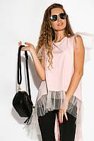 Туника женская с фатином 121P003 (Розовый), фото 1