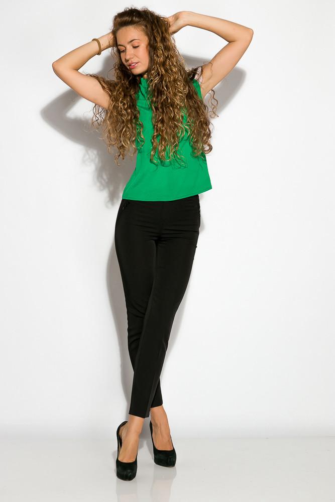 Блуза женская с кружевом 121P001 (Зеленый)