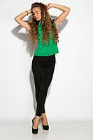 Блуза женская с кружевом 121P001 (Зеленый), фото 1