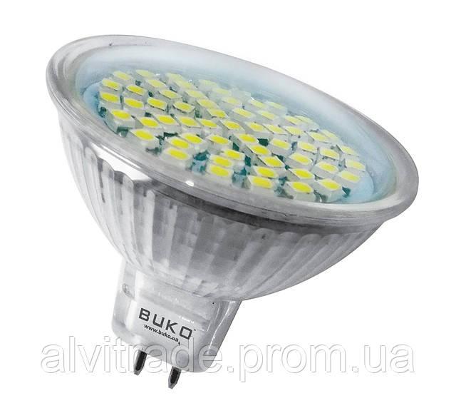 Светодиодная лампа BUKO JCDR 60 LED, 220V