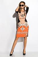 Платье женское 120P081 (Черно-бежевый), фото 1