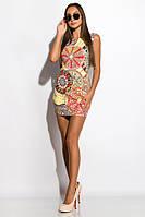 Платье женское GS 120P110 (Серо-желтый)