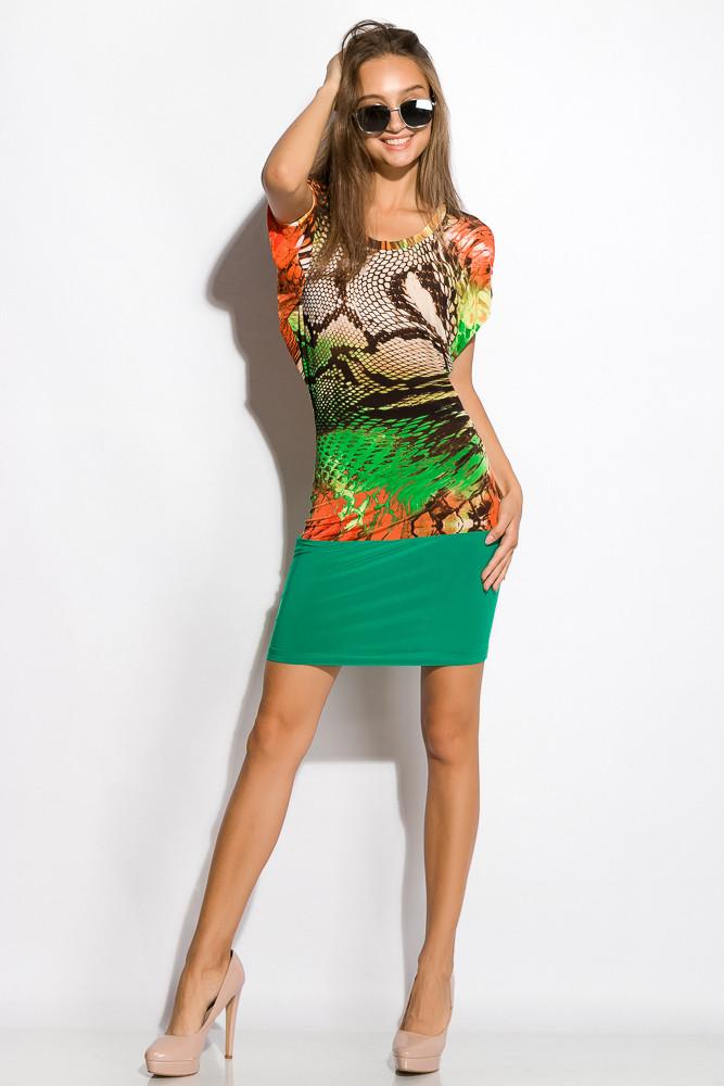 Платье женское 120P111 (Салатовый цветной принт)