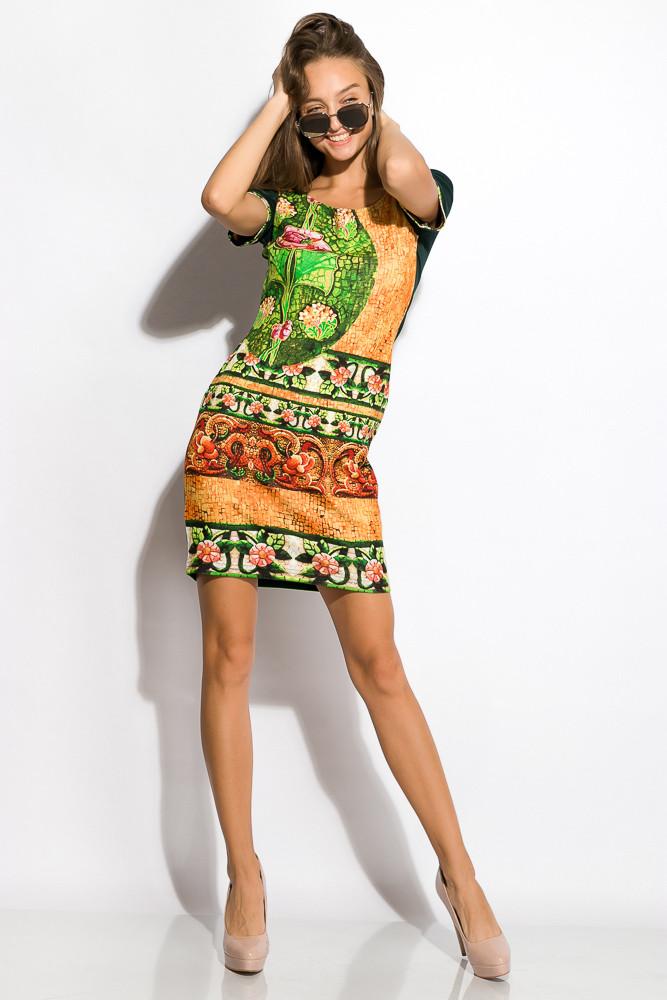 Платье женское 120P122 (Темно-зеленый)