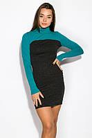 Платье женскоес длинным рукавом 120P148 (Грифельно-мятный), фото 1