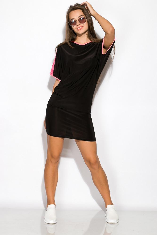 Платье женское ассорти 120P150 (Черно-розовый)