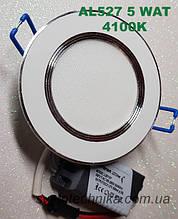 Светодиодная панель встраиваемая Feron AL527 5W 4000K (корпус-белый)