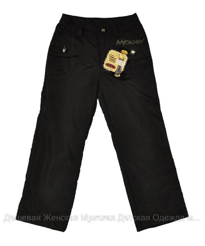 Детские зимние штанишки на флисе черные