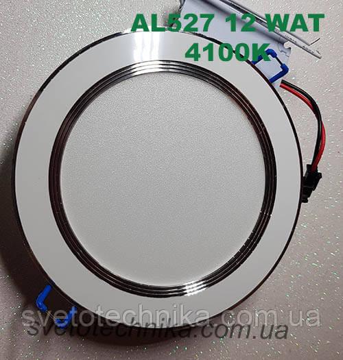 Светодиодная панель встраиваемая Feron AL527 12W 4000K (корпус белый)