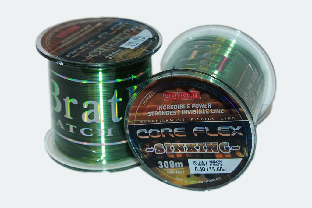 Волосінь BratFishing Core Flex Sinking 300 м. (потопаюча)