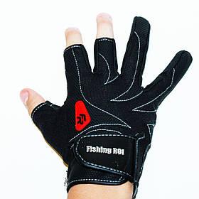 Рукавички спінінгіста «FISHING ROI» WK-05 Чорні