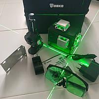 АКЦИЯ* !Бирюзовый луч! DEKO 3D Лазерный уровень нивелир 12 линий ОРИГИНАЛ