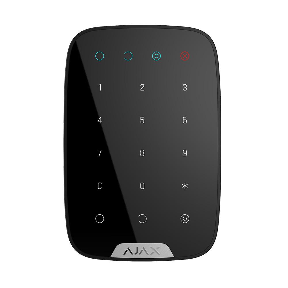 Беспроводная сенсорная клавиатура Ajax KeyPad черный