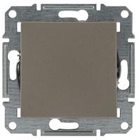 Перекрестный 1-кл. выключатель Asfora бронза EPH0500169, фото 1