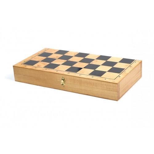 Шахматная доска / шашек деревянная S191 МЕД