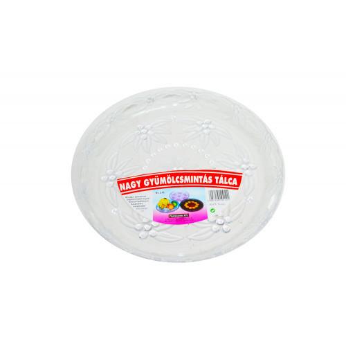 Поднос 32см прозрачный круглый 109121
