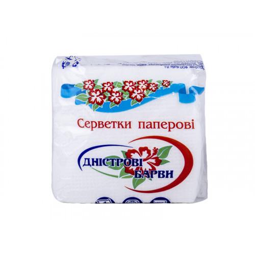 Салфетки Днестровские Краски 24*24 см однослойные бумажные 30 шт
