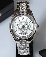 Наручные кварцевые часы HS0133 с металлическим браслетом серебристого цвета, фото 1