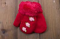 Детские варежкие утепленные красные 5312-5, фото 1