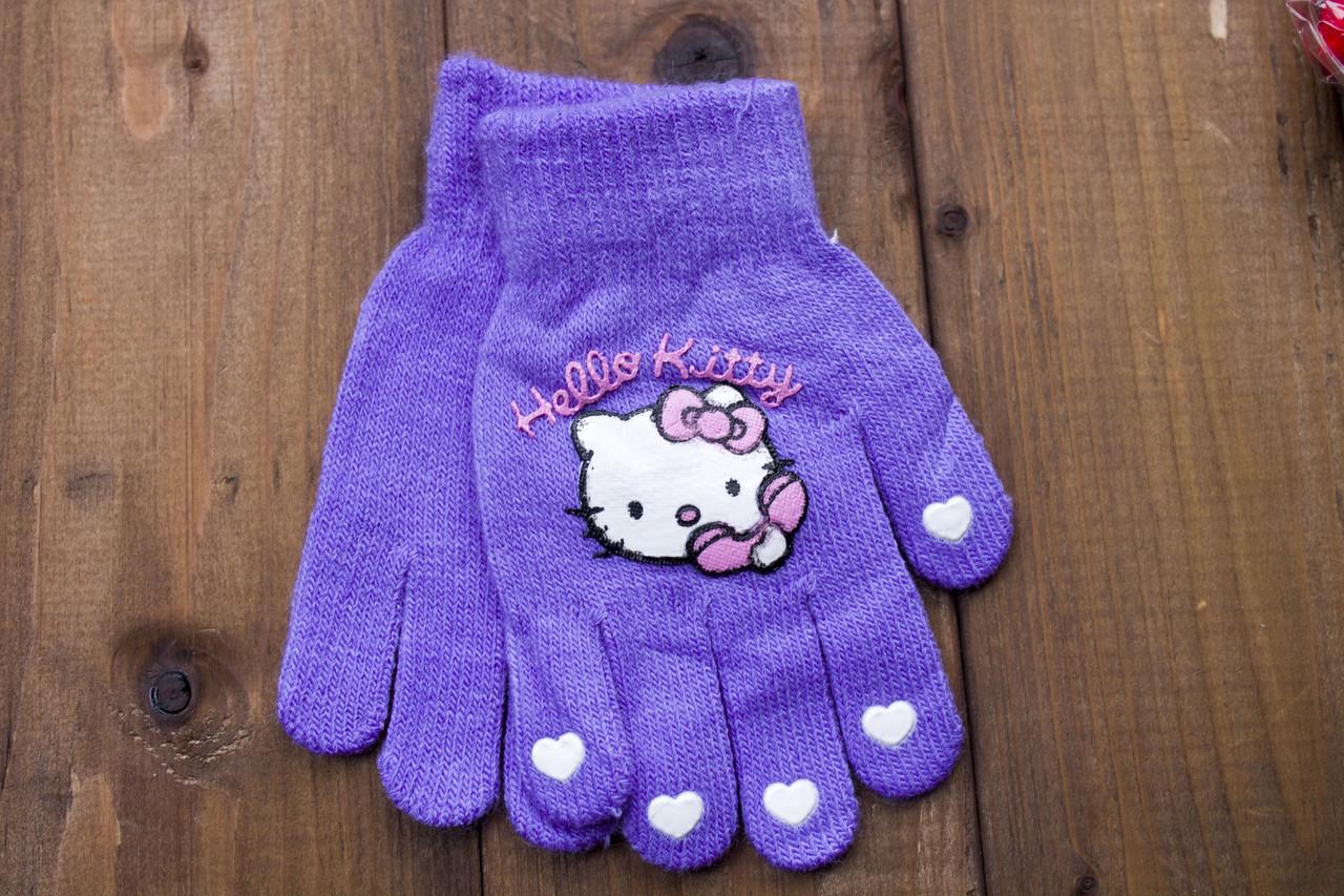 Детские перчатки фиолетовые 5017-5
