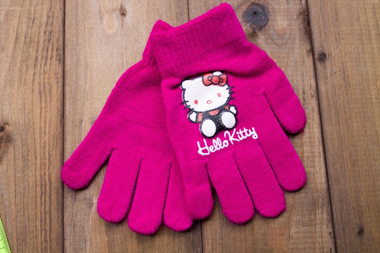 Детские перчатки розово-малиновые 5017-10