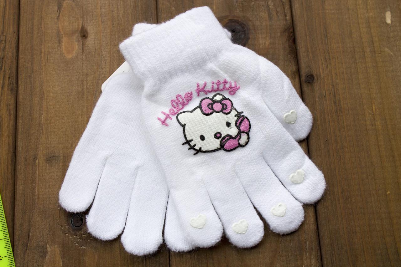 Детские перчатки белые 5017-11
