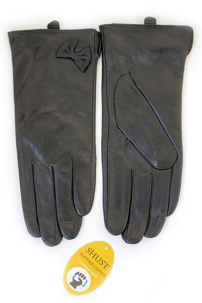 Женские кожаные перчатки ВЯЗКА СЕНСОРНЫЕ Средние 2-340
