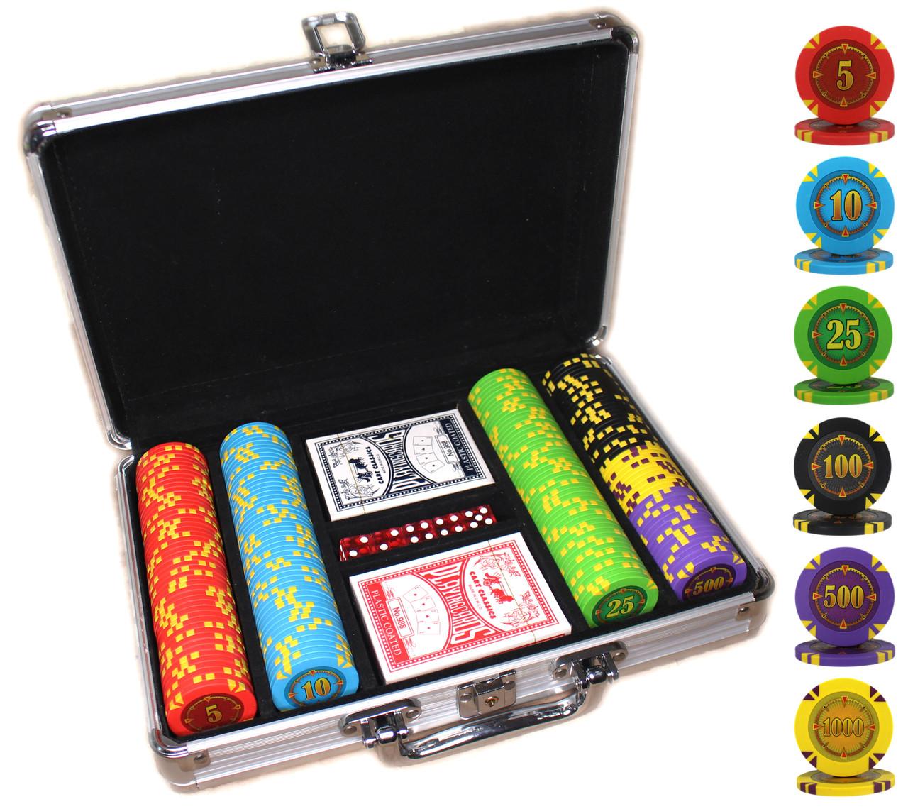 """Набор для покера """"Compass"""" 200 фишек"""