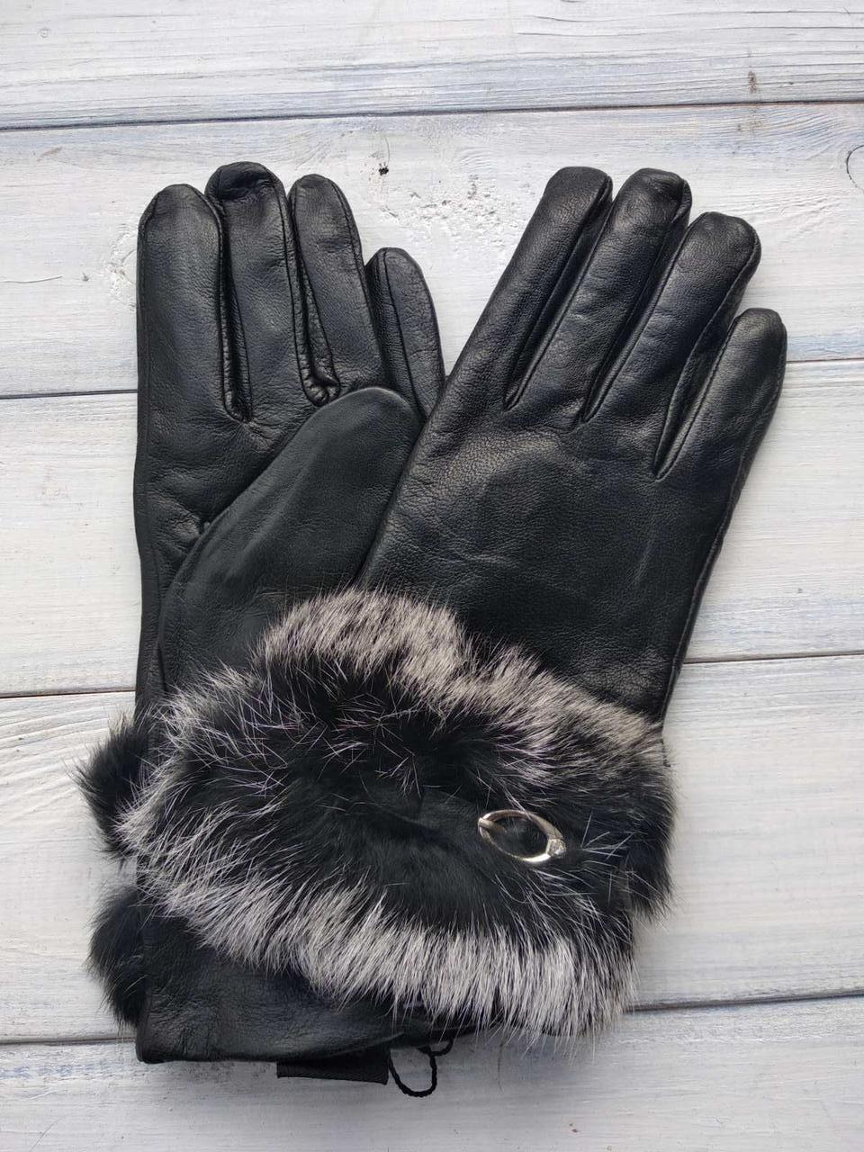 Женские перчатки Felix с мехом Средние 9-353