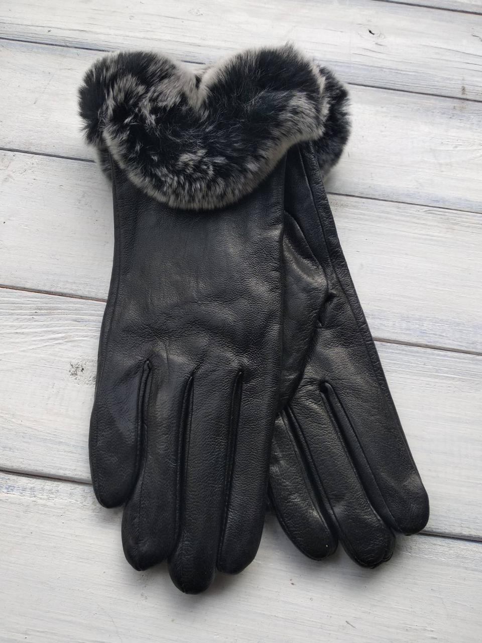 Женские перчатки Felix с мехом Большие 10-356