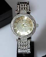 Наручные кварцевые часы HS0140 с металлическим браслетом серебристого цвета, фото 1