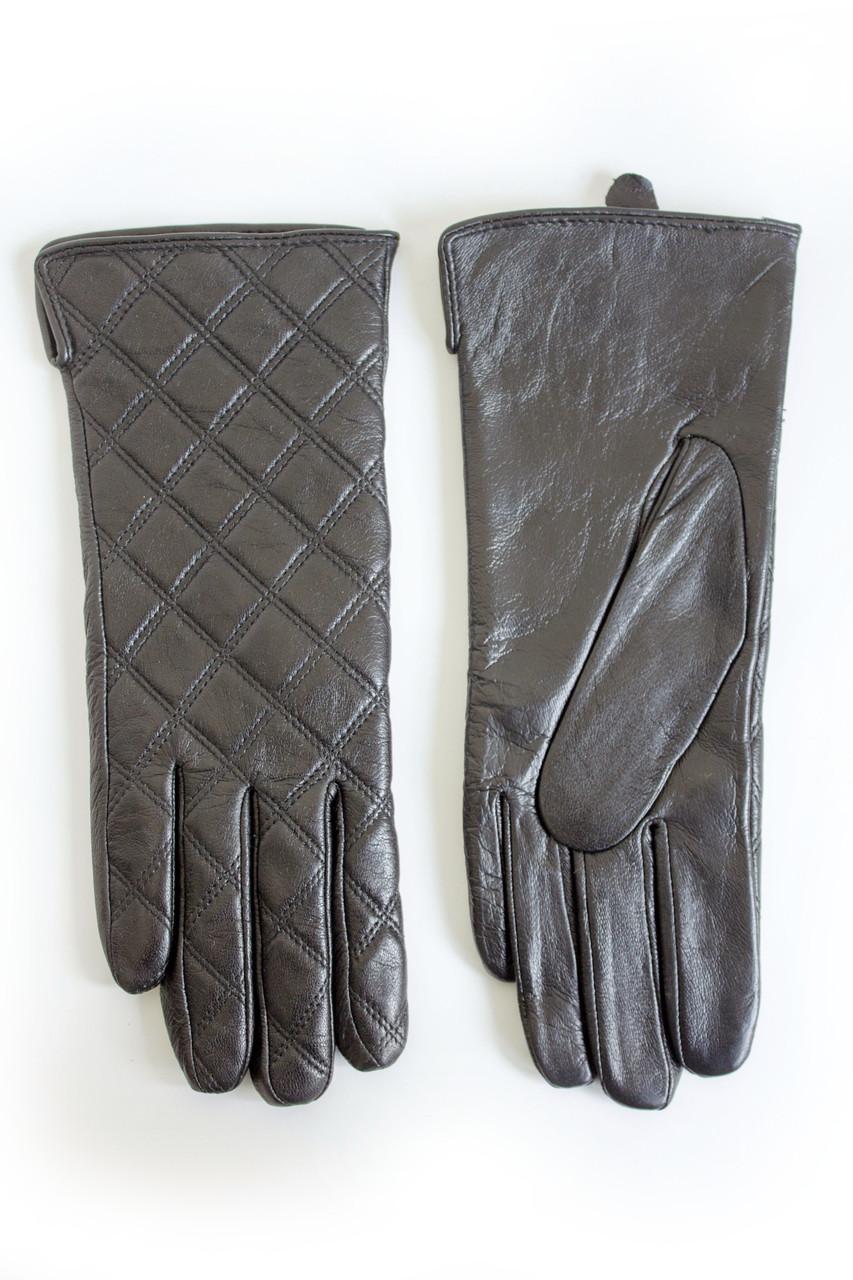 Женские кожаные перчатки ВЯЗКА  2-383