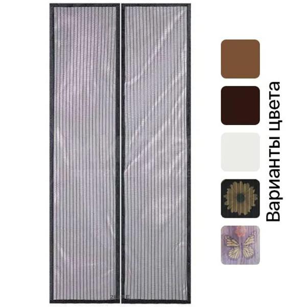 Москітна сітка штора на магнітах Magic Mesh 210х100 см на двері