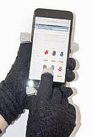 Женские сенсорные перчатки Вязка Черные