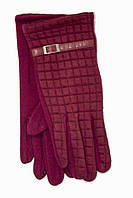 Женские стрейчевые перчатки Универсальные Бордовые, фото 1