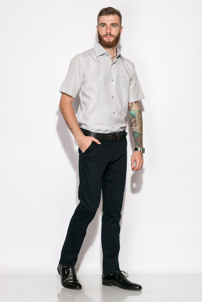 Классическая однотонная рубашка 120P292 (Бело-серый)