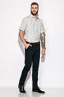 Классическая однотонная рубашка 120P292 (Бело-серый), фото 1