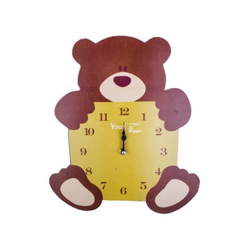 Часы настенные S&T Мишка детский МДФ 26,8*4,5*33,5см 05-210