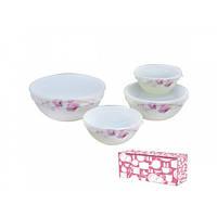 Набір салатників S&T Рожева орхідея 4 шт 61099 30054