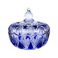 Конфетница Interos 160 * 150 ромбы Сапфир Blue 87-1