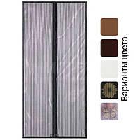 Москітна сітка штора на магнітах Magic Mesh 210х100 см на двері, фото 1