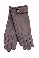 Женские стрейчевые перчатки темно-коричневые  124, фото 1
