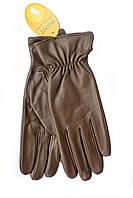 Женские кожаные перчатки коричневые 2-790, фото 1