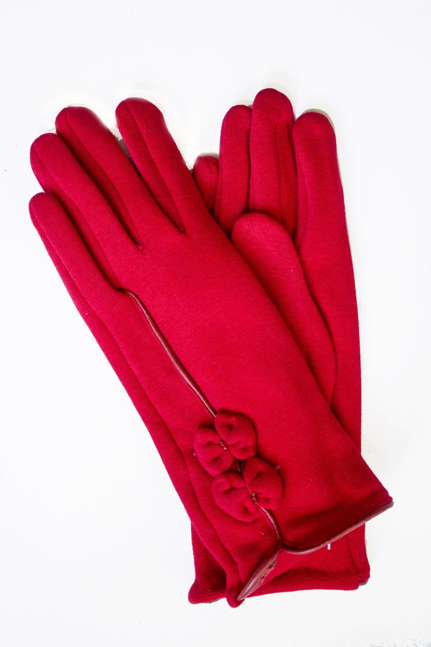 Женские стрейчевые перчатки Красные 122S3