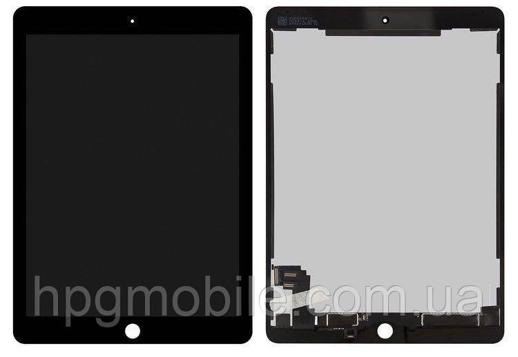 Дисплей для iPad Air 2 (A1566, A1567), модуль в сборе (экран и сенсор), черный, оригинал