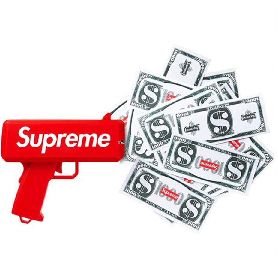 Пистолет для денег Supreme (подарок на корпоратив, вечеринку, день рождения или фотосессию)