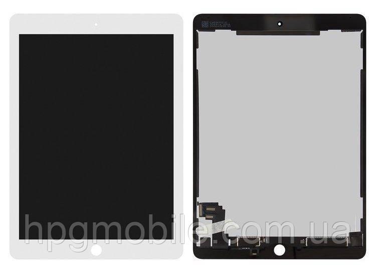Дисплей для iPad Air 2 (A1566, A1567), модуль в сборе (экран и сенсор), белый, оригинал