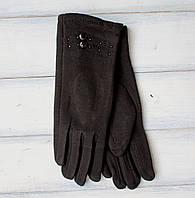 Женские стрейчевые перчатки Черные, фото 1